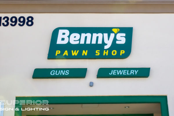 Bennys Cabinet Sign