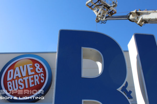 Dave & Busters Channels - Microperf vinyl on face