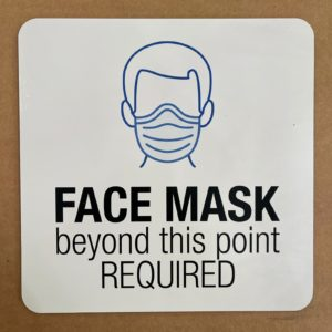"COVID SIGNAGE - FACE MASK SIGN 8""x8"""