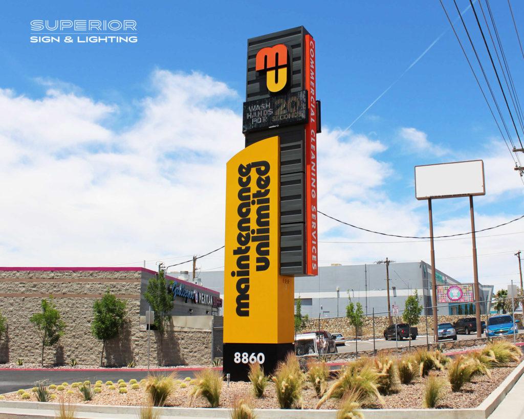 Maintenance Unlimited Monument sign El Paso, TX