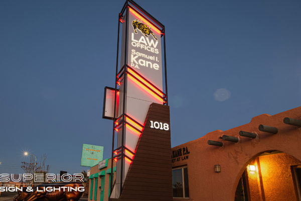 KANE LAW Monument sign. Las Cruces, NM
